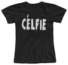 CELFIE COOL PARODY SELFIE HIPSTER SWAG INSTAGRAM FUNNY GIRLS WOMENS T-SHIRT