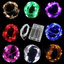 3M 4.5V 30 LED Mini Fairy Light String Battery Operated Silver Wire Decoration
