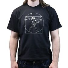 Vitruvian Man Guitarist American Standard 59 Les Paul Guitar Rock Blues T-shirt