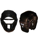 Woldorf USA Removable Face Head Gear Leather cage Boxing MuayThai Kickboxing