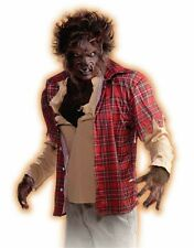 Werewolf Shirt Scary Killer Red Plaid Hair Halloween Adult Costume Accessory