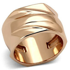 Women's Rose Gold Tone Modern 13mm Wide Band Fashion Ring Size 6 - 10