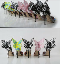 Sexy Women's Stilettos High Heel Mary Janes Butterfly Wings Party Shoes Pumps