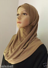Hijab Amira Two Piece Cotton Islamic Head Scarf Hejab -Multi colors