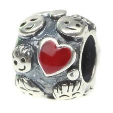 925 sterling silver Charms Beads Fit European Style family love kiss &princess Y