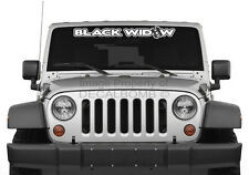 "BLACK WIDOW ""outline"" spider windshield decal sticker rzr diesel race drag vinyl"