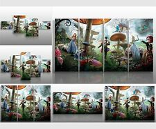 QUADRI MODERNI XXL ALICE IN WONDERLAND ARREDO DESIGN CASA FILM SALOTTO PUB ARTE