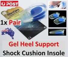 Gel Heel Support Pad Shock Cushion Orthotic Insole Inserts Heel Foot Pain Relief