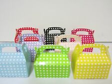 36x Polkadot  Lolly Candy BOXES Party Favours Loot Lolly Party Bag  Candy Buffet