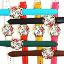 Vintage Flower Dial Women Men Analog Quartz Wrist Watch Party Small Watches 1pcs