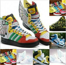 Fashion Women's Pu Leather Angel Wings Shoes Casual Sneakers#aa
