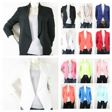 New Women Candy Casual Solid Color 3/4 Regular Suit Blazer  13color(261)