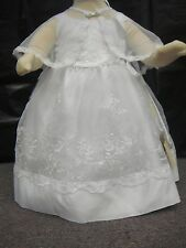 Baby Girl Christening Baptism Dress/ 3 pieces Outfit/ Sizes: 00 to 4