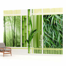 Bamboo Triple Photo Wallpaper Wall Mural (CN-2-180VE)