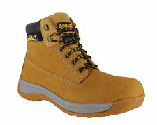 DeWalt Apprentice Mens Honey Leather Steel Toe Safety Work Boots Sizes 6 to 12