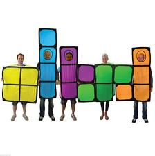 TETRIS FANCY DRESS COSTUME GREAT FOR FESTIVALS STAG NIGHTS 1980'S 80'S ADULT