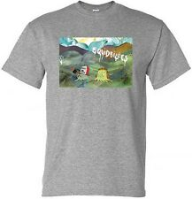 NEW T SHIRT SQUIDBILLIES ADULT SWIM S - 3XL BLACK OR HEATHER GRAY