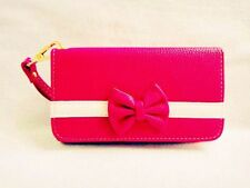 New 3D Cute Bowknot BOW girl Wristlet LEATHER WALLET POUCH PHONE CASE COVER  21