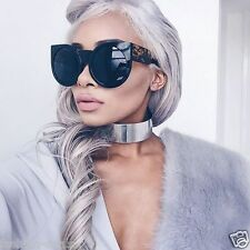"Oversized Round Cat Eye "" WOLVES in the valley"" Style Women Sunglasses Vintage"