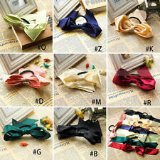 Korean Style Girl Scrunchie Ponytail Holder Satin Ribbon Bow Hair Band Hair Rope