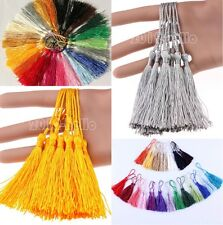 20Pcs Chinese Traditional Imitation Silk Drapery Trimmings Tassels 10Colors