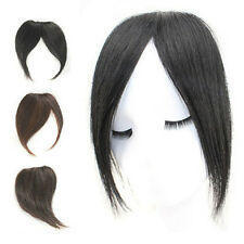 Virgin Human Hair Bangs Fringe Clip in Hair Extensions 3 Different Style Black
