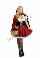 Little Red Riding Hood Fancy Dress Fairy Tale Costume Sexy Party Outfit