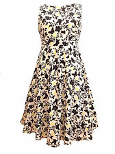 New Ivory Black Floral Butterfly Summer Wedding Party Dress 16 18 20 22/24 26/28