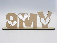 Personalised Custom MDF Wood Letter Kids Name 10cm High Sign Baby Birthday