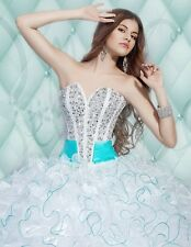 Fashion Quinceanera Dresses Beading Ball Gowns Pageant Dress Custom Size2-4-6++