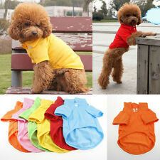 Dog T-Shirt Puppy Pet Clothes T Shirts Polo Shirt Summer Tee Small Medium Large