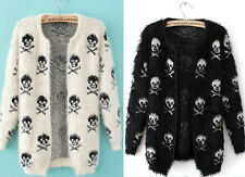 GOTH PUNK EMO ROCKABILLY VAMPIRE HALLOWEEN TATTOO SKULL Cotton Sweater coat