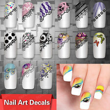 Hot Sale Nail Art Decals Half Wraps French Manicure Water Transfer Stickers