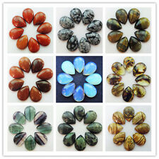 8pcs Mixed Stone Teardrop CAB CABOCHON 25x18x7mm Y0346