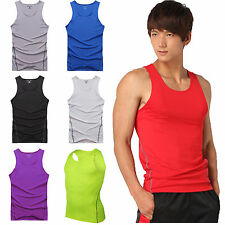 Mens Body Armour Compression Base Layer Tank Top Vest Under Shirt Skin Sports