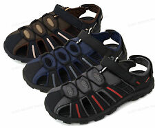 Mens Hiker Sandals Velcro Close Toe Biker Water Sport Trail Hiking Outdoor Shoes
