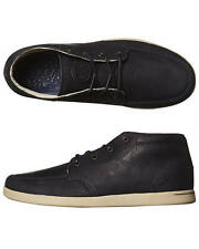 New Reef Men's Spiniker Mid Nb Leather Shoe Rubber Shoes Black