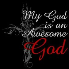 My God Is An Awesome God Black Short Sleeve T-Shirt Any Size ~Nice~