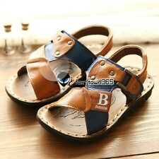 Summer Baby Boys Child Kids Sandy beach Open-toed Letter B PU Sandals Shoes