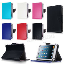 Flexible Universal PU Leather Folio Stand Case Cover For 7'' Inch Various Tablet