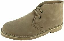 ROAMERS - LADIES Real Suede Leather 2 Eye Desert Boots - LIGHT TAUPE