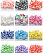 Wholesale Acrylic ZEBRA-STRIPE Round Charms Loose BEADS 6MM 8MM 10MM 12MM 14MM