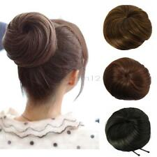 Hair Extension Pony Tail Women Clip In On Hair Bun Hairpiece Scrunchie US Stock
