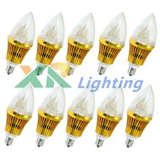 10x Dimmable E12 Base 6W 9W Sharp High Power LED Chandelier Candle Light Bulb