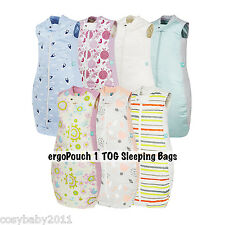 ergoPouch 1.0 TOG Baby Sleeping Bag, various colours - 100% organic