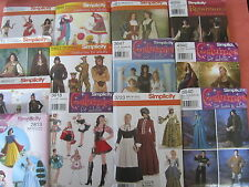 Simplicity Costumes YOU Choose 1770 1771 2517 2525 2813 2849 2853 3618 3623 3647