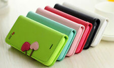 IPHONE 4 4S 5G 5S 5C CHERRY LEATHER STAND FLIP WALLET CUTE COVER CASE