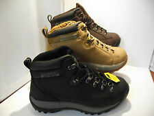 LADIES WOMENS SAFETY WORK HIKING LEATHER BOOTS GROUNDWORK STEEL TOE CAP FAB12