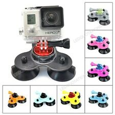 New Low Angle Removable Triple Suction Cup Mount Holder For GoPro Hero 3 2 1