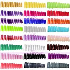 500x  False French Style Fake Half Artificial Nails Acrylic UV Gel Art Tips Kits